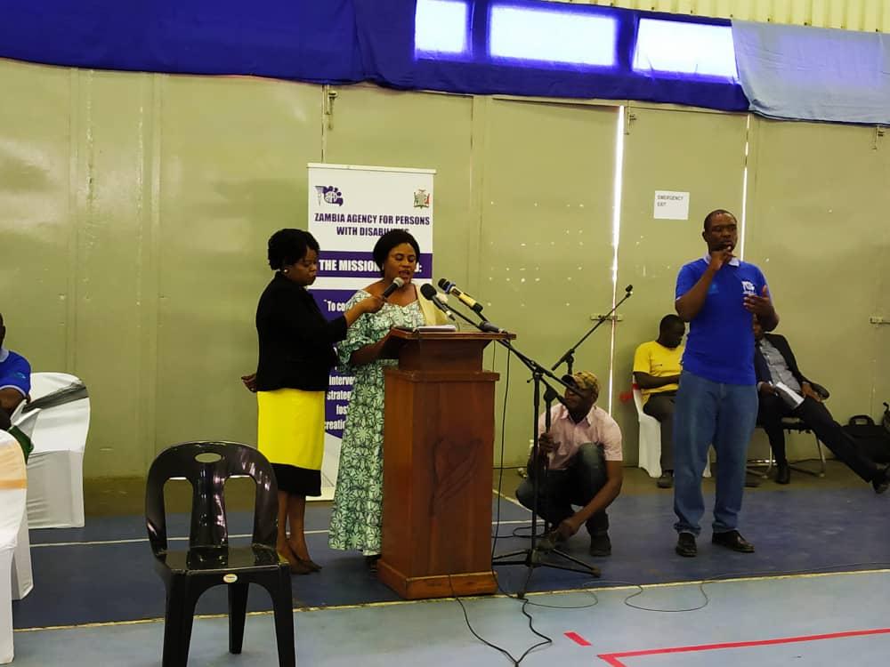 The Minister of CDSS giving IDPD Speech