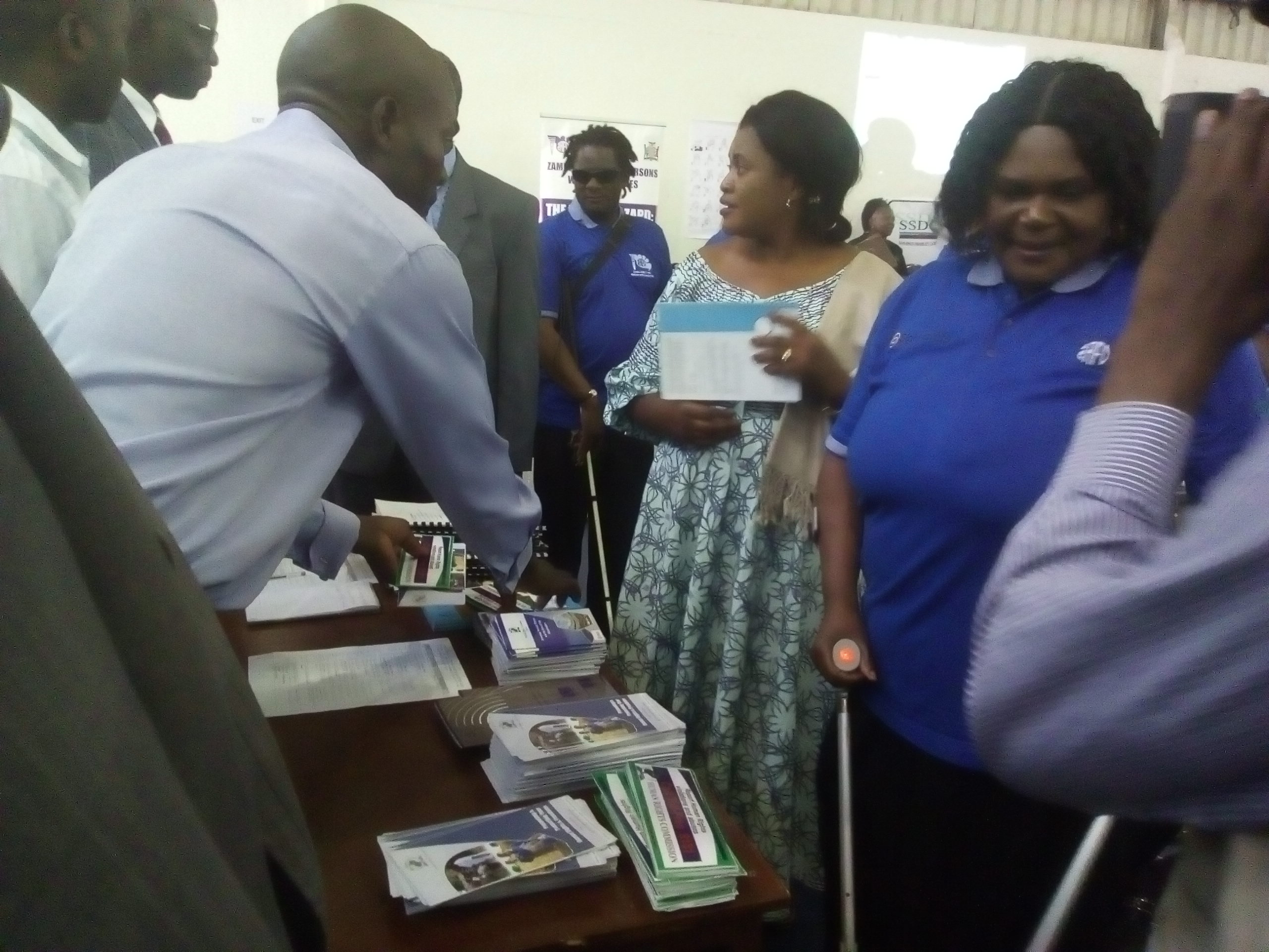 Minister and BoardZapd Member at Exhibitors Stand