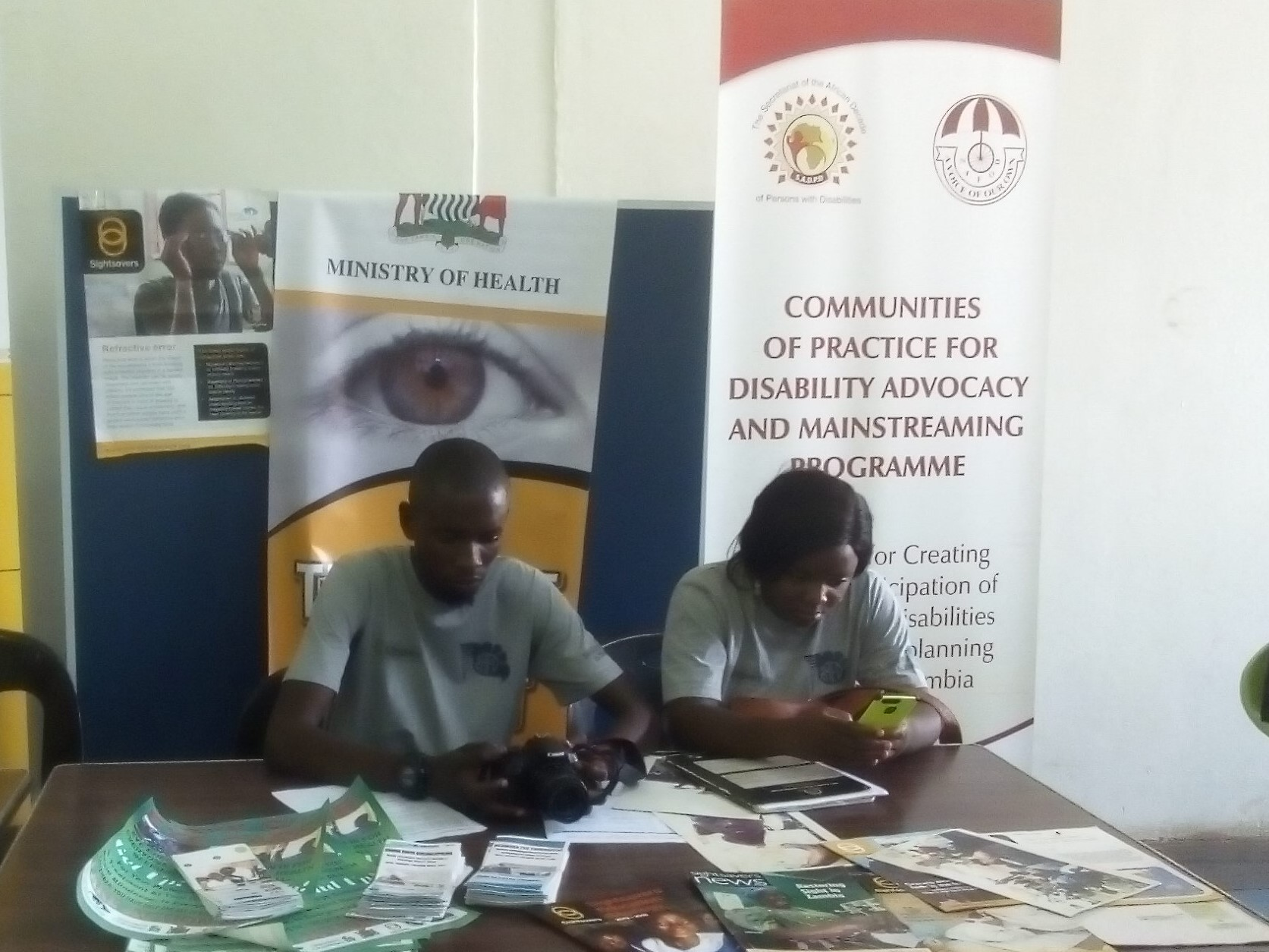 Exhibitors Stand -Ministry of Health and Communities of Practice for Disability Advocacy and Mainstreaming Programme