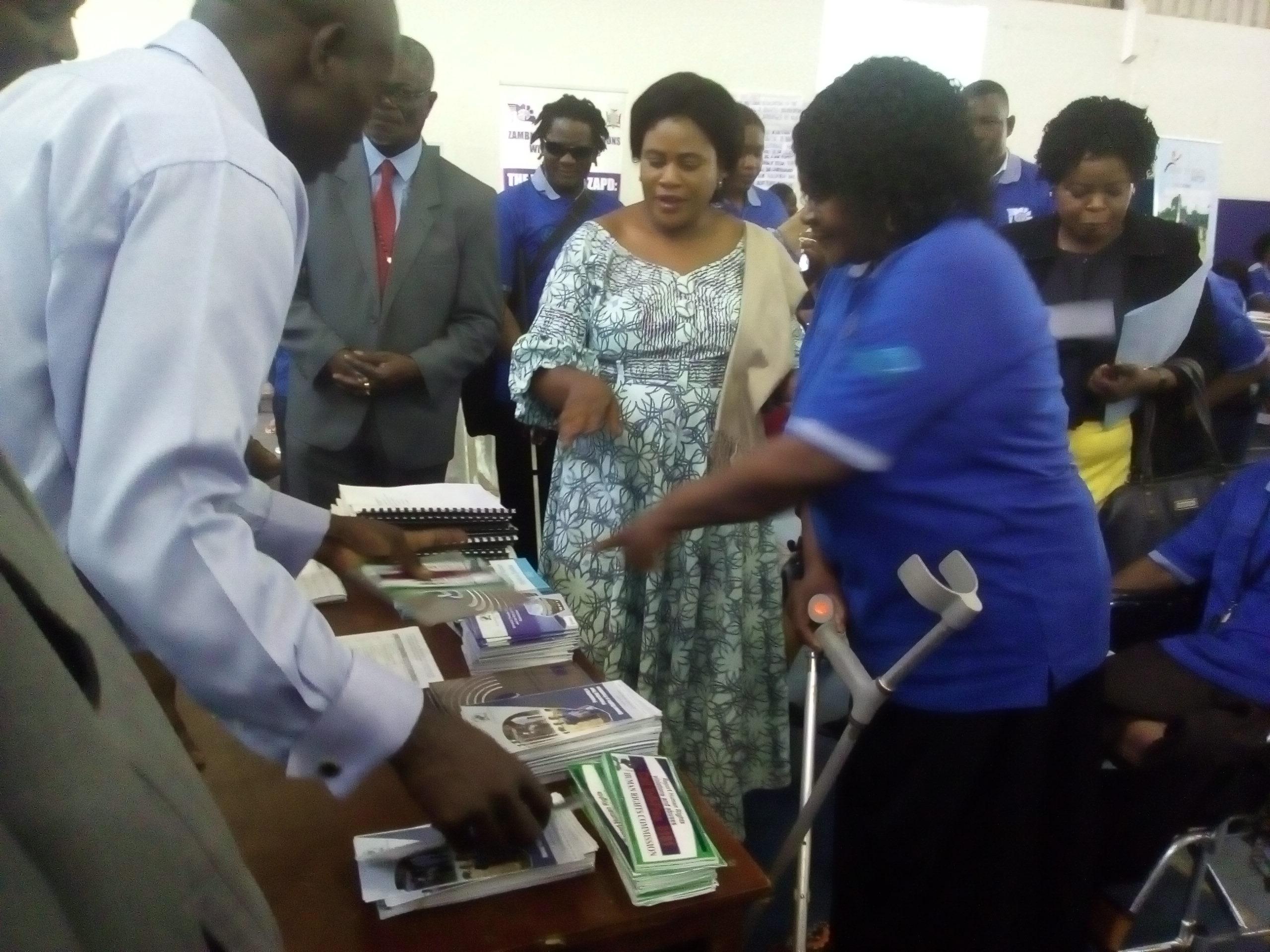 Hon. Olipa Mwansa Phiri, Dr Shamulenge & Ms Josephine Shinaka