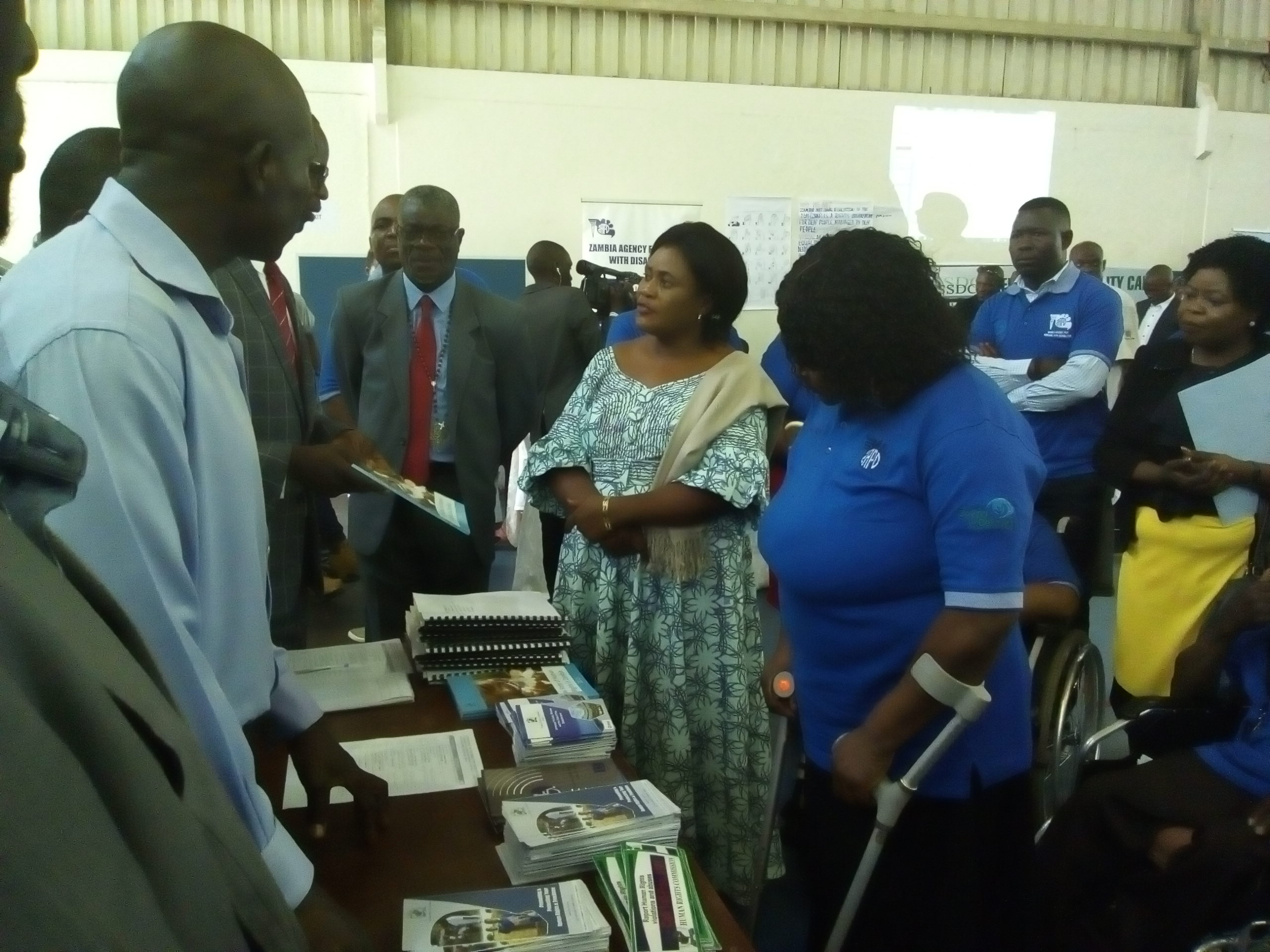 Minister of Development & Social Services, PS -Ministry Of Livestock & Fisheries and ZAPD-Board Member at the Exibition stand